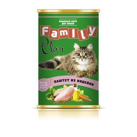Консервы CLAN FAMILY для кошек, паштет из индейки, 415 г
