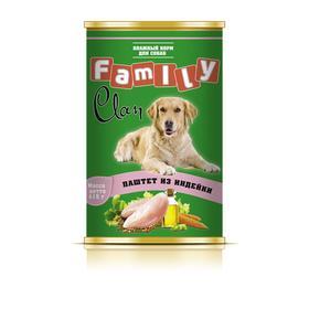 Консервы CLAN FAMILY для собак, паштет из индейки, 415 г