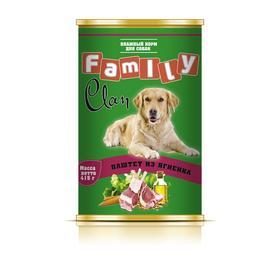 Консервы CLAN FAMILY для собак, паштет из ягненка, 415 г
