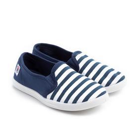 Слипоны детские, цвет синий, размер 32
