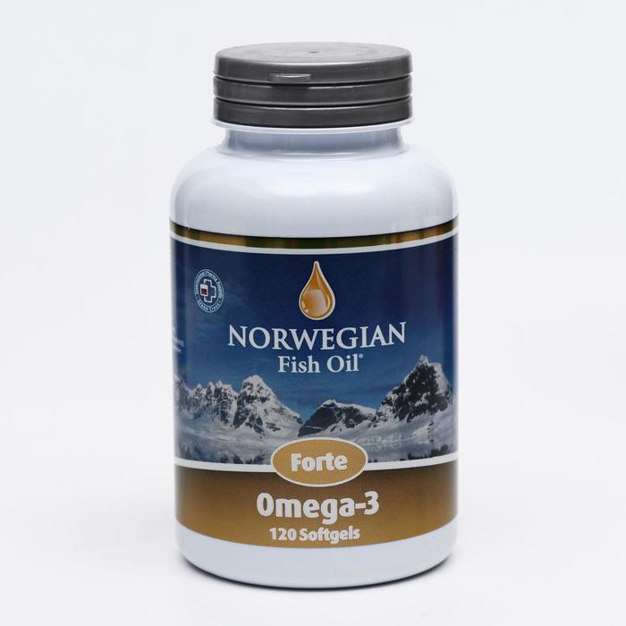 Norwegian Fish Oil Омега-3 Форте, 120 капсул по 1384 мг