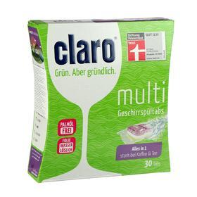 Таблетки для посудомоечных машин Claro Эко Мульти, 30 шт