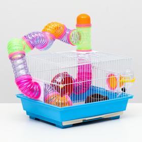 Клетка для грызунов, укомлектованная, 35 х 28 х 23 см, микс