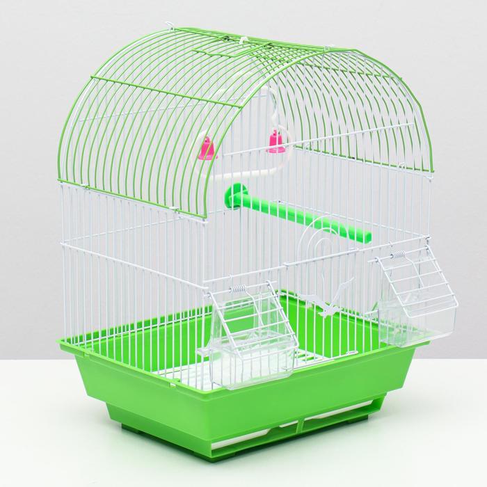 Клетка для птиц, Купол 30 х 23 х 38 см, микс
