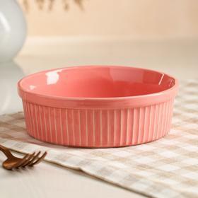 """Форма для выпечки """"Классика"""", коралловый цвет, 0.6 л, керамика"""