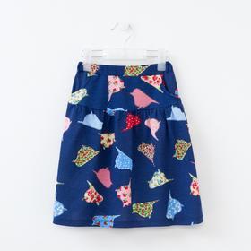 Юбка для девочки, цвет синий, красный, голубой, размер 104 см (36)