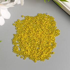 "Бисер ""Preciosa"" прозрачный радужный, 10/0, 20 гр, желтый/меланж"