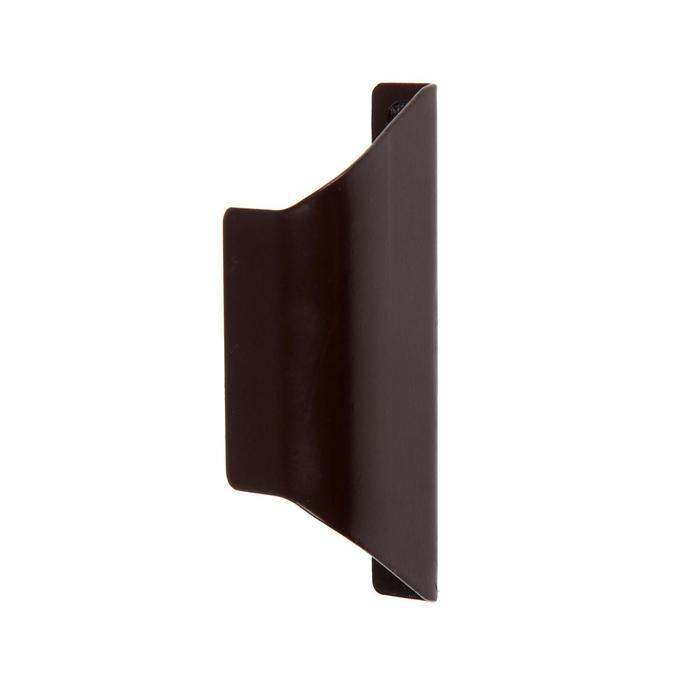 """Балконная ручка ракушка 85 мм Металл. """"С"""", коричневая"""