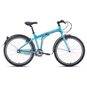 Велосипед 26' Forward Tracer 3.0, цвет бирюзовый/белый, размер 19' Ош