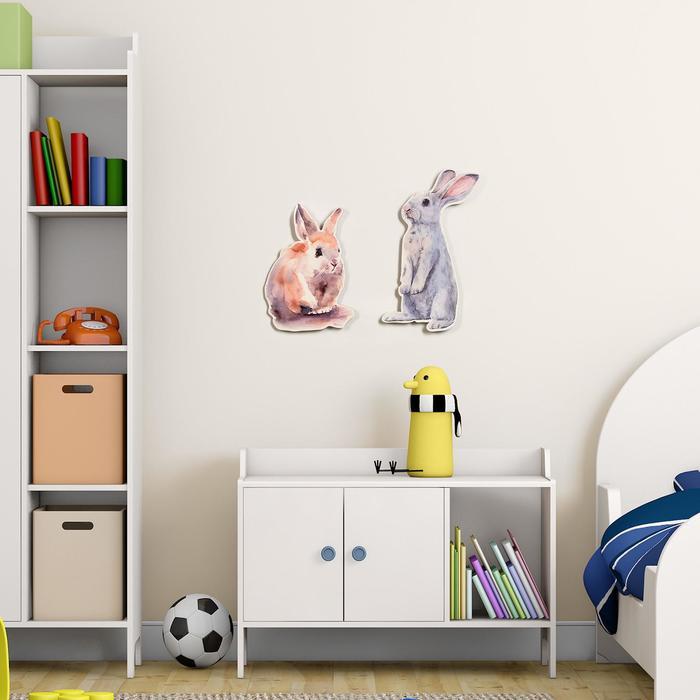 "Декор настенный ""Кролики"", 20х31.5 см, 17х25 см"
