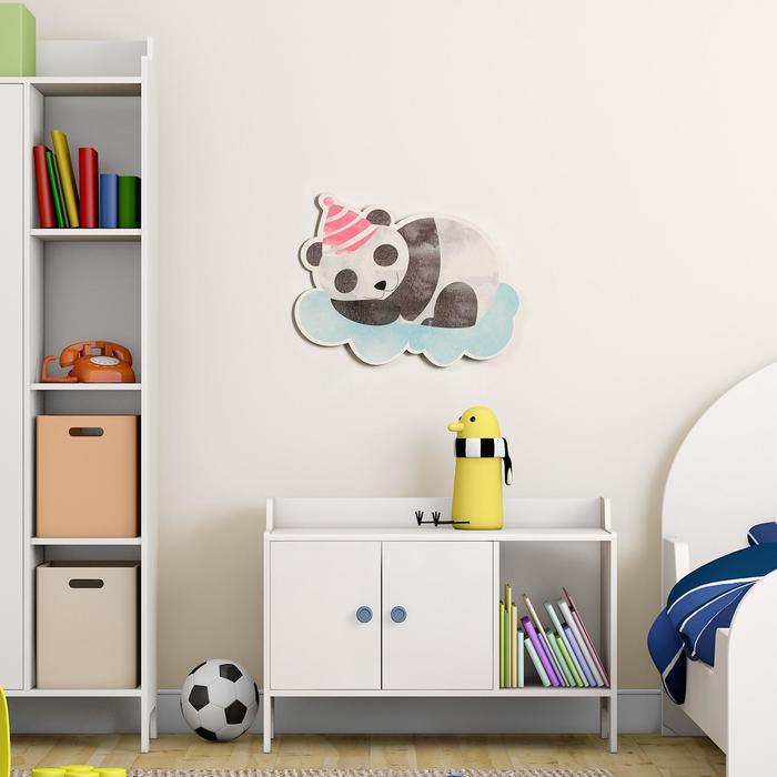 "Декор настенный ""Сонный панда"", 30х35.5 см"