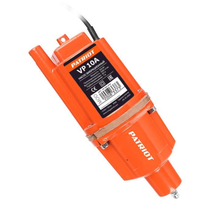 Насос вибрационный PATRIOT VP 10А 315302500, нижний забор, кабель 8 м, 18 лмин, напор 60 м 700320
