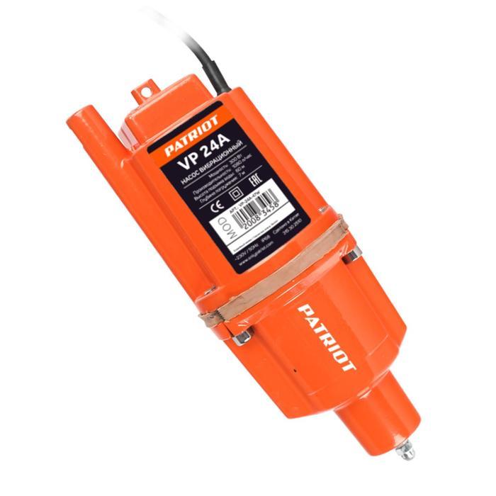 Насос вибрационный PATRIOT VP 24А 315302510, нижний забор, кабель 24 м, 18лмин, напор 60 м 700320