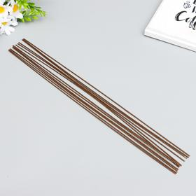 """Проволока флористическая """"Florico"""" 1.6 мм, 12 шт, 40 см, в бумажной оплётке, коричневый"""