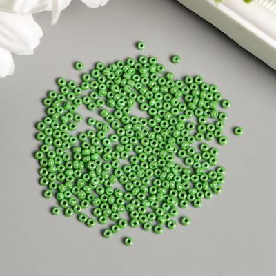 """Бисер """"Preciosa"""" непрозрачный с покрытием, 10/0, 20 гр, зеленый - Фото 1"""