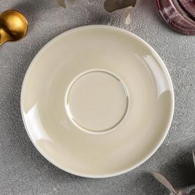 Блюдце «Акварель», d=14,5 см, цвет бежевый
