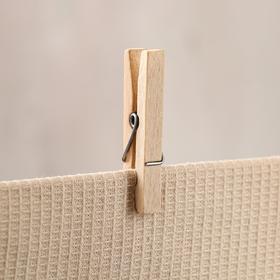 Прищепка бельевая, набор 20 шт, 7х1 см, массив бука Ош