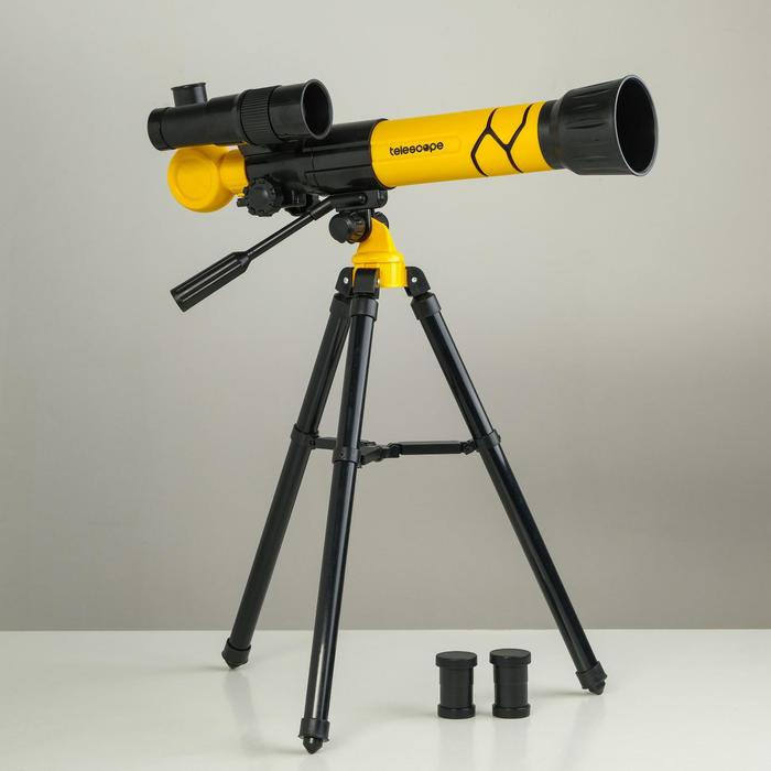 Телескоп Юный астроном кратность х40, желтый