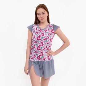 Сорочка женская, цвет серый, размер 40