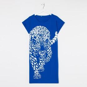 Туника женская, цвет синий, размер 46
