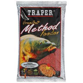 Прикормка Traper «Метод фидер», клубника, 750 г
