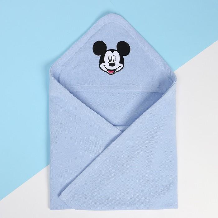 Махровое полотенце с уголком «Микки Маус», 75*75 см, хлопок 100%