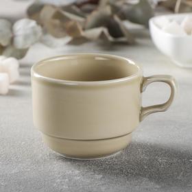 Чашка чайная «Акварель», 200 мл, цвет бежевый