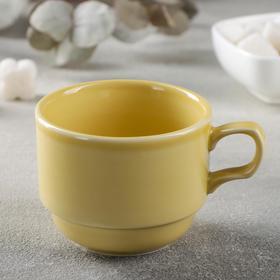 Чашка чайная «Акварель», 200 мл, цвет жёлтый