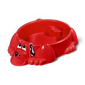 Песочница «Собачка», цвет красный