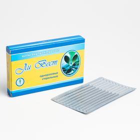 Иглы акупунктурные стерильные из медицинской стали, «Ли Вест», 0,30х60 мм, 100 шт уп