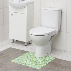 Коврик для туалета из вспененного ПВХ, 50×52 см