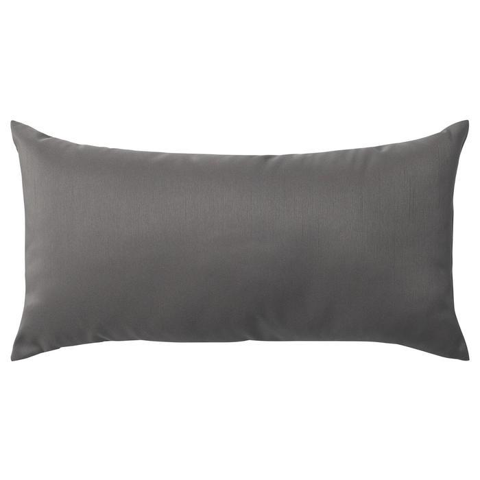 Декоративная подушка КРОНЭРТ, 30х58 см, цвет тёмно-серый