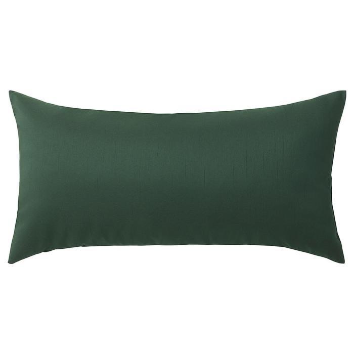 Декоративная подушка КРОНЭРТ, 30х58 см, цвет тёмно-зелёный
