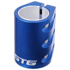 Зажим с проставкой для трюкового самоката на 3 болта для компрессии HIC, цвет синий Ош