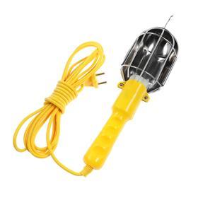 Светильник переносной Luazon Lighting с выключателем под лампу E27, 5 метров, желтый Ош