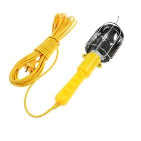 Светильник переносной Luazon Lighting с выключателем под лампу E27, 10 метров, желтый Ош