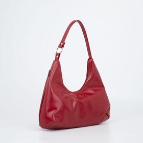 Сумка-хобо, отдел на молнии, цвет бордовый