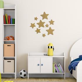 Декор настенный 'Звёзды', 9 элементов, 4-12 см, золото Ош