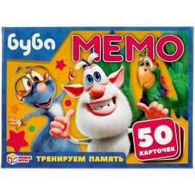 Игра карточная Мемо «Буба», 50 карточек 65х95 мм