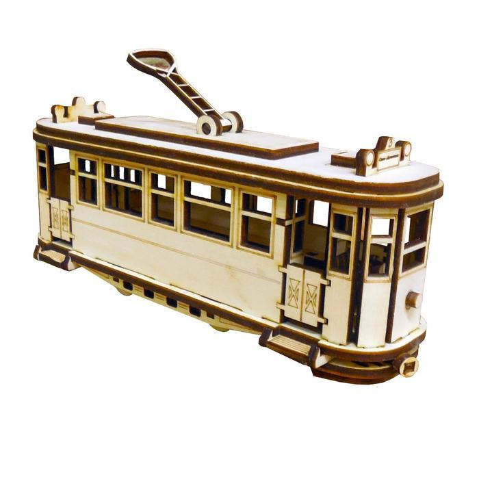 Cборная модель «Ретро трамвай» 72 детали
