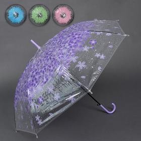 Зонт - трость полуавтоматический «Spring», 8 спиц, R = 46 см, цвет МИКС Ош