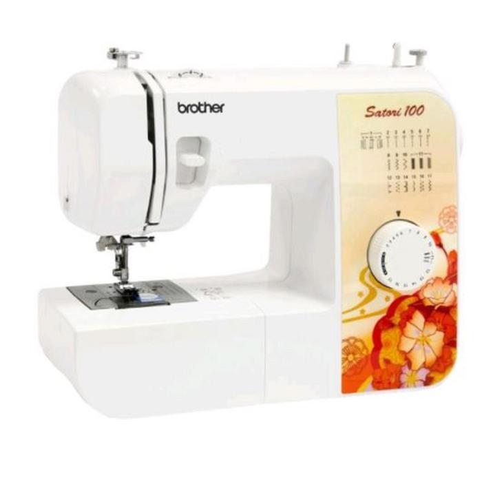 Швейная машина Brother Satori 100, 65 Вт, 17 операций, полуавтомат, белый