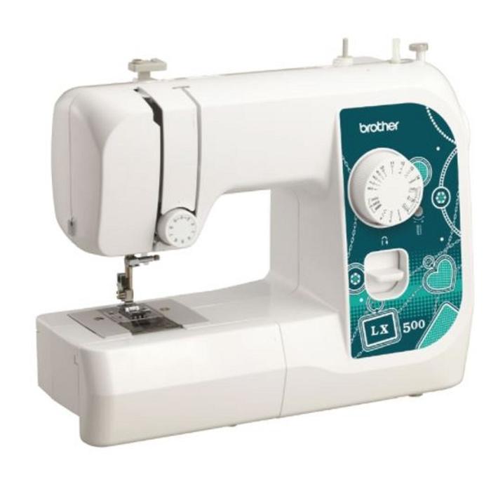 Швейная машина Brother LX 500, 50 Вт, 14 операций, полуавтомат, белый