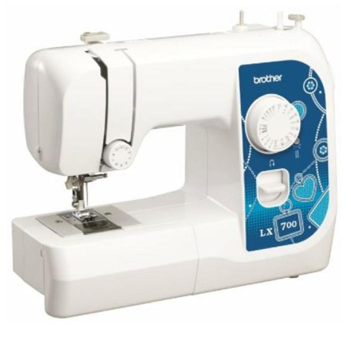 Швейная машина Brother LX 700, 50 Вт, 17 операций, полуавтомат, белый