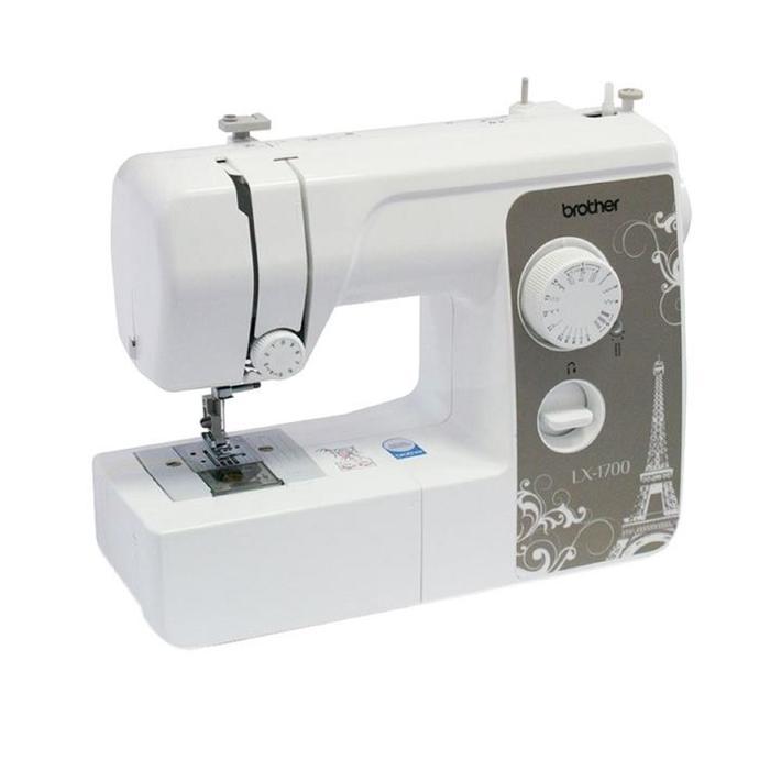 Швейная машина Brother LX-1700, 55 Вт, 17 операций, полуавтомат, белый