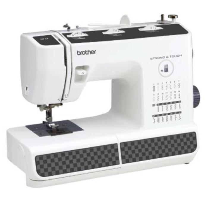 Швейная машина Brother HF 27, 51 Вт, 27 операций, автомат, белый/чёрный