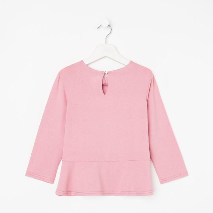 Школьная блузка для девочки, цвет розовый, рост 128 см