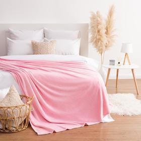 Плед Этель 200*220 см, цв. розовый, 100% п/э, корал-флис , 220 гр/м2