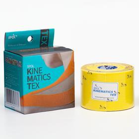 Кинезио тейп Spol Tape 5 см x 5 м, жёлтый