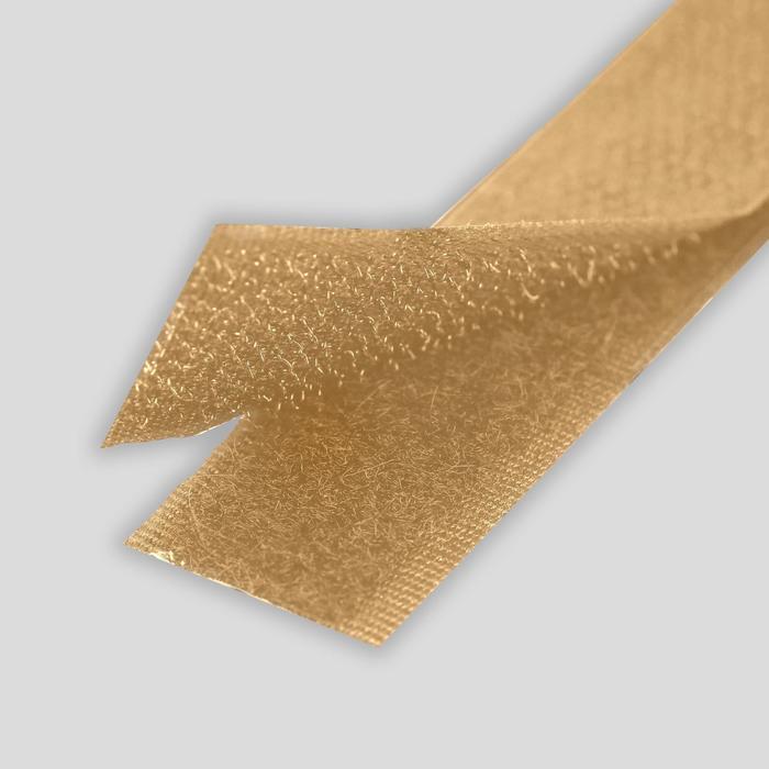 Липучка, 20 мм  25 см, цвет бежевый 034